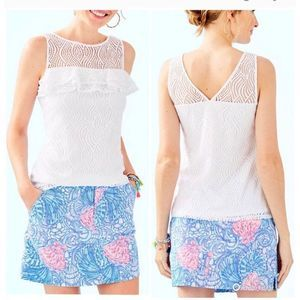 LILLY PULITZER Janine Sleeveless Lace Top NWT XL